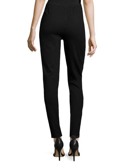 Caroline Rose Modern Faux-Leather & Ponte Easy Leggings