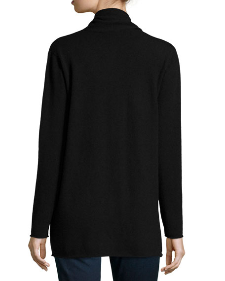 Neiman Marcus Cashmere Collection Cashmere Draped Cardigan, Women's