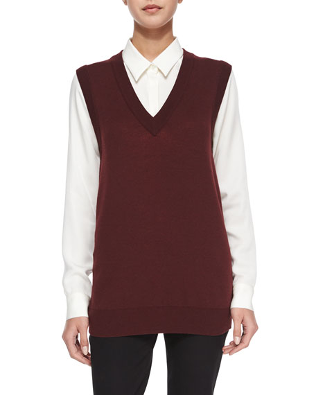Theory Audria Preen Reversible Sweater Vest