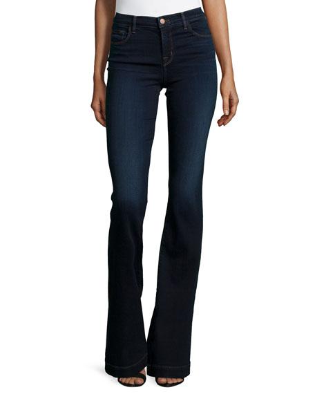 J Brand Maria High-Waist Flare Jeans, Embrace