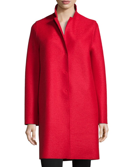 Harris Wharf LondonDouble-Face Wool Hidden Placket Coat