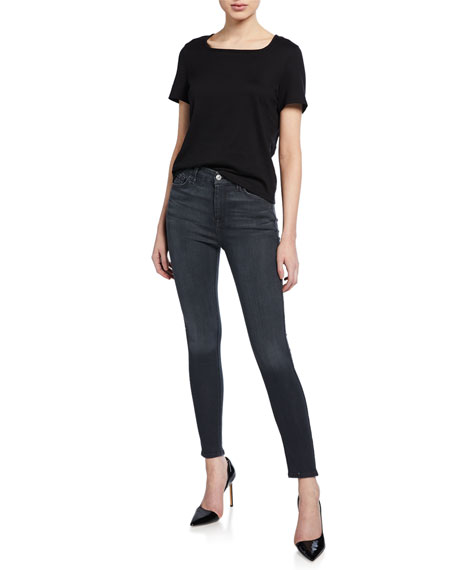 High-Waist Ankle Skinny Jeans