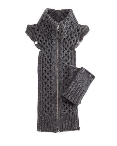 Upstate Knit Dickey w/Cuffs, Charcoal