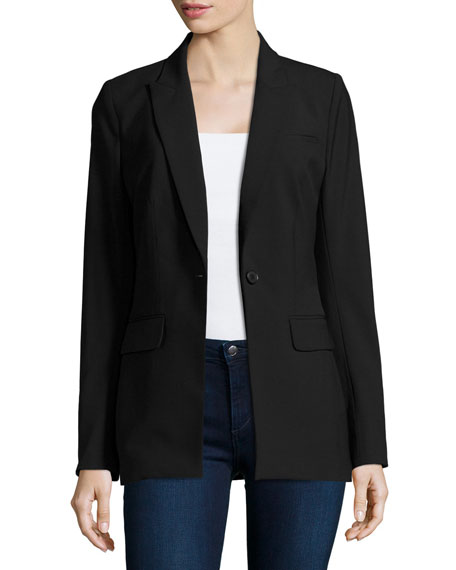 Veronica Beard Long & Lean Blazer Jacket, Black