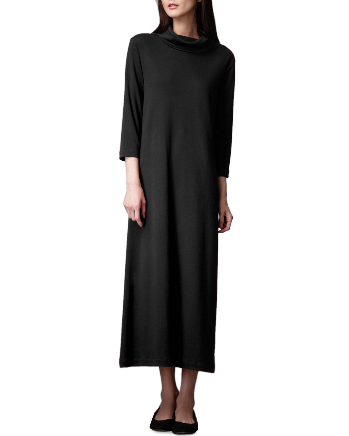 Joan Vass Plus Size Turtleneck Maxi Dress | Neiman Marcus