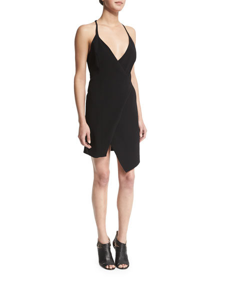 Kendall + Kylie Sleeveless V-Neck Split-Hem Dress, Black
