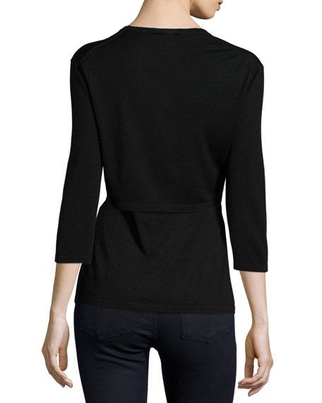 Modern Superfine Silk-Blend Shrug