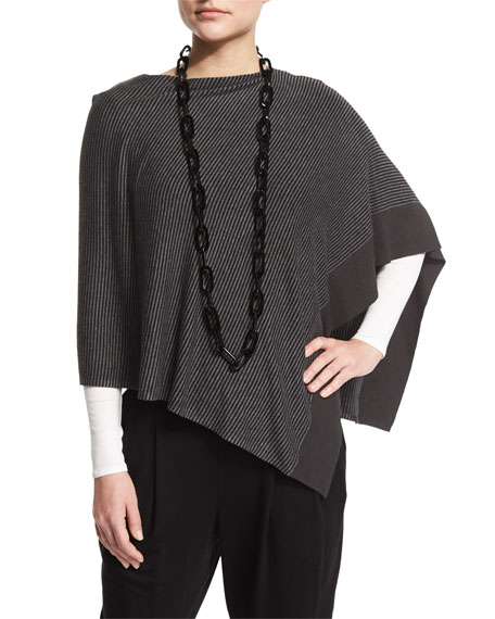 Eileen Fisher Cozy Striped Viscose Poncho