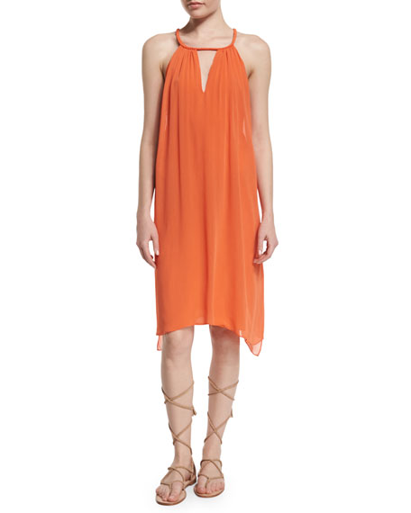 Alice + Olivia Katey Sleeveless Chiffon Midi Dress,