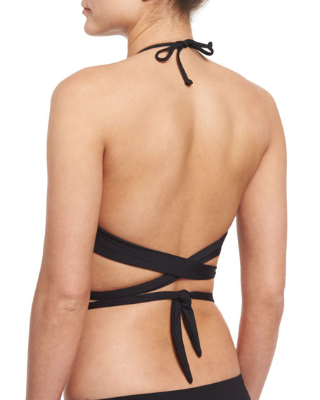 Lizzie Free Spirit Wrap-Around Solid Swim Top