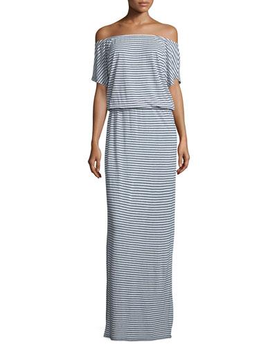 Zaina Striped Maxi Dress