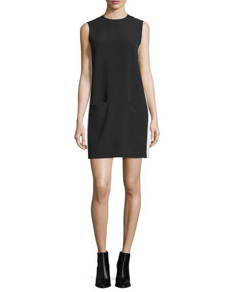 ATM Anthony Thomas Melillo Sleeveless Crepe Shift Dress,