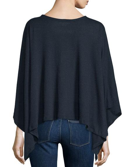 Double-Face Cotton/Cashmere Knit Poncho