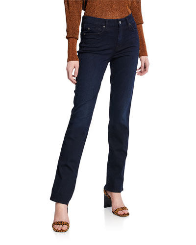 Kimmie Straight-Leg Jeans  Blue Black River