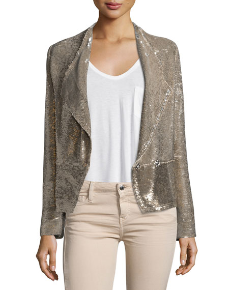 Iro Chill Sequin Double-Breasted Jacket, Gold