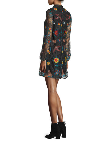Maria Embroidered Lace Dress