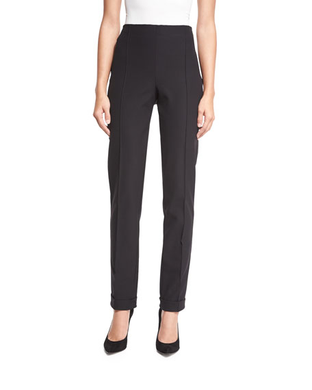 Slim Techno Pants, Black
