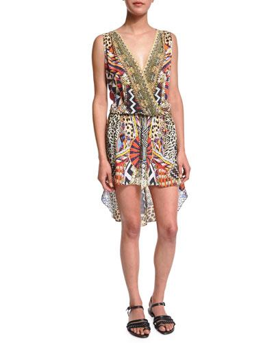 Camilla Embellished Coverup Dress, Bird's Eye View