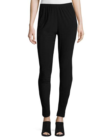 Caroline Rose Plus Size Stretch Easy Wrinkle-Resistant Leggings, Black