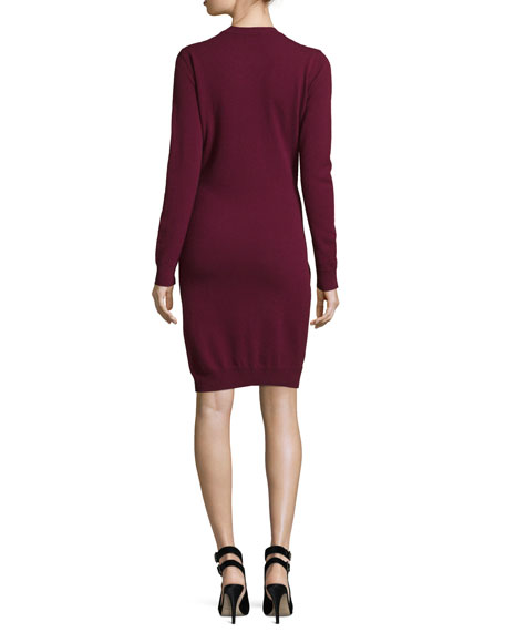 Tie-Front Cashmere Sweaterdress