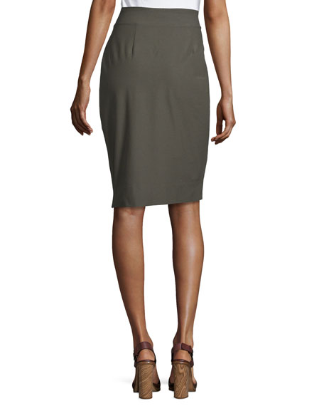 eileen fisher stretch crepe pencil skirt plus size