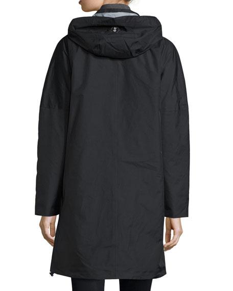 Long Hooded Rain Coat