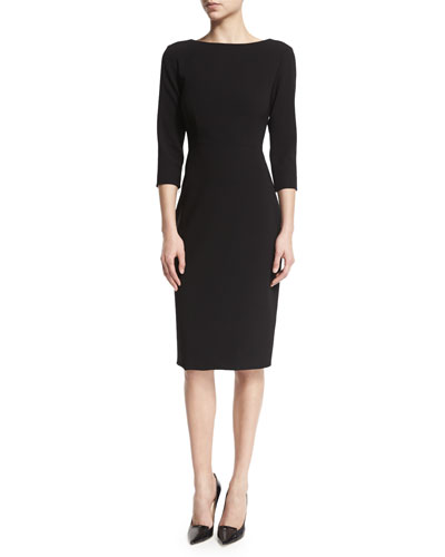 Varetta Admiral Crepe Sheath Dress  Black