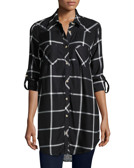 CLSSC TINA PLAID BF SHIRT