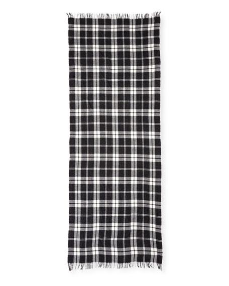 Soft Wool/Cashmere Plaid Scarf