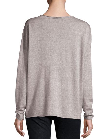Long-Sleeve Fine-Gauge Knit Top