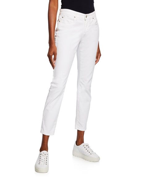Eileen Fisher Organic Skinny Ankle Jeans, White and