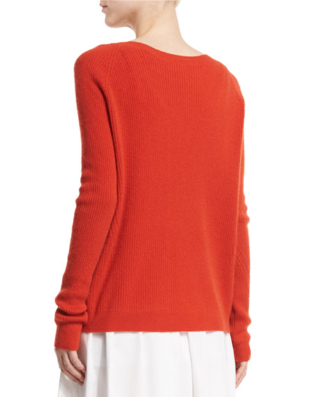 Vince Ribbed Raglan Cashmere Sweater