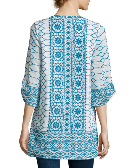 Selma Embroidered Cotton Tunic