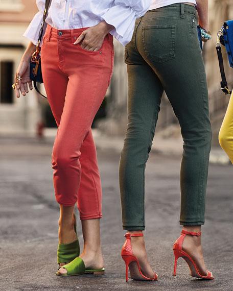 AG Prima Mid-Rise Cigarette Crop Jeans