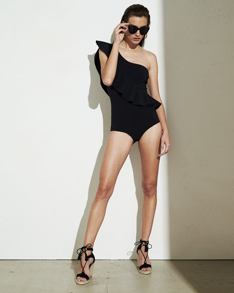 Atlante One-Shoulder Ruffle Swimsuit