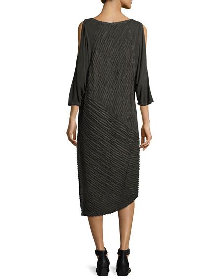 Trella Cold-Shoulder Rope-Trim Knit Dress