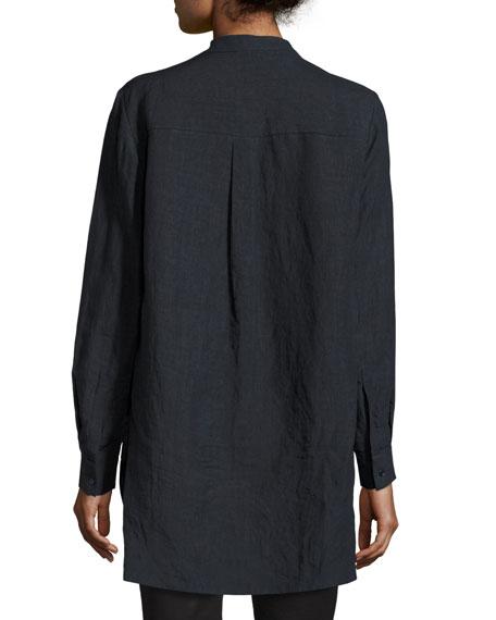 Dara Long-Sleeve Linen Tunic
