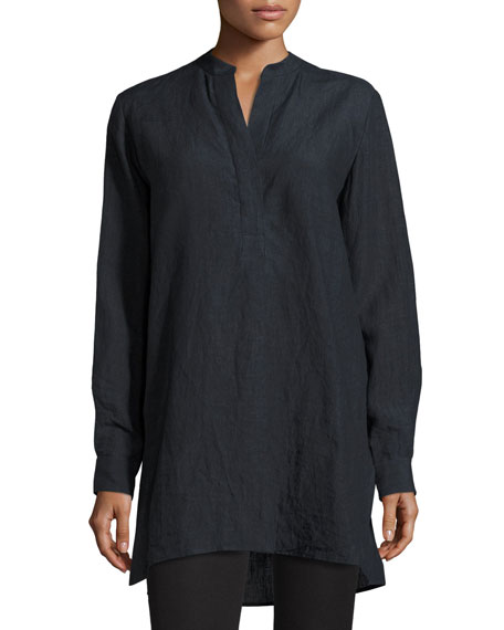 Joseph Dara Long-Sleeve Linen Tunic