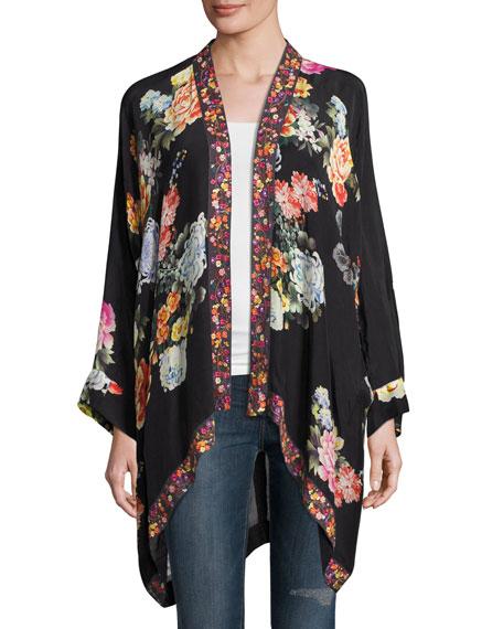 Jazzy Kimono-Style Printed Jacket, Petite