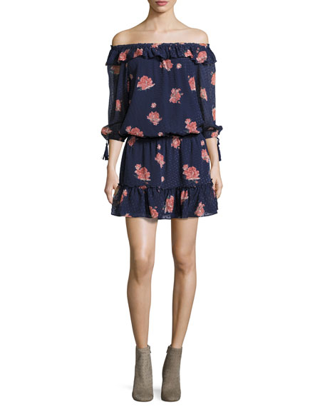 Luvenia Floral-Print Silk Dress