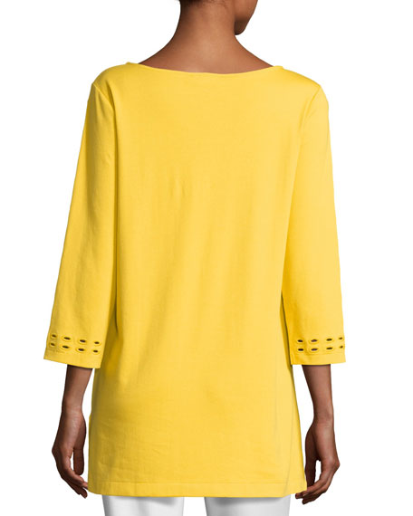 Cutout-Detail Interlock Tunic