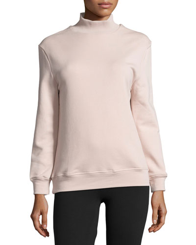 Rochester Cutout-Back Mock-Neck Sweatshirt