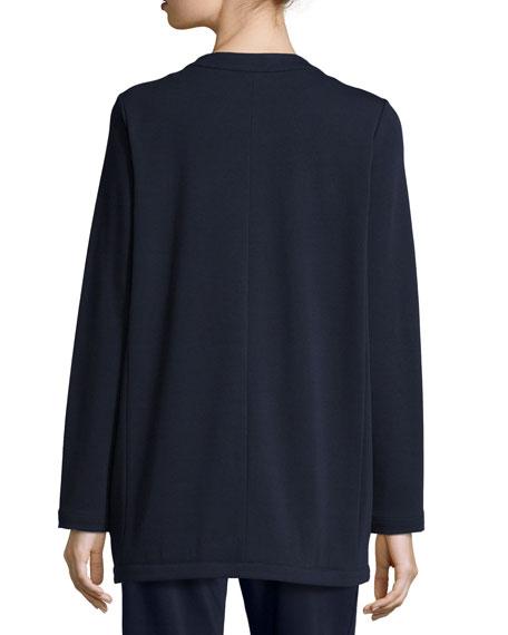 Four-Pocket Cotton Interlock Jacket, Plus Size
