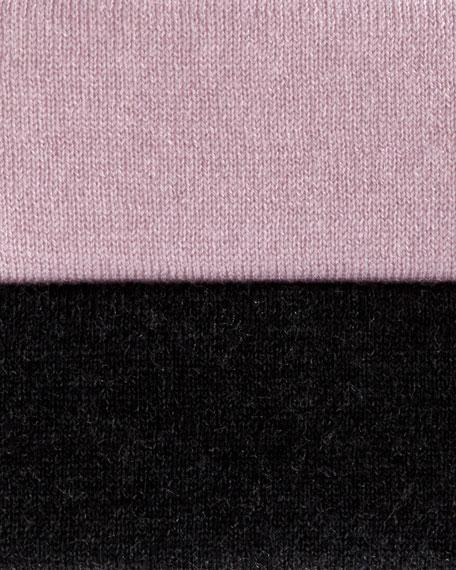 Superfine Stripe-Stitch Draped Cardigan