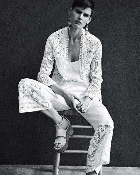 Eliana Wide-Leg Silk Pants