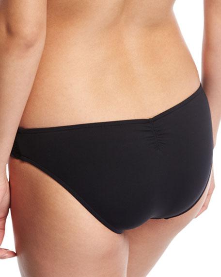 Havana Mini Hipster Swim Bikini Bottoms, Black