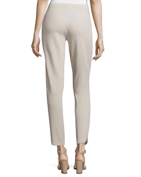 Joan Vass Plus Size Ponte Ankle Pants