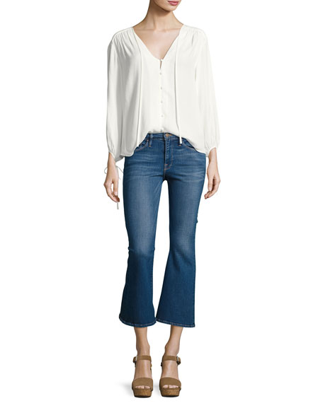 Le Crop Bell Kick-Flare Jeans