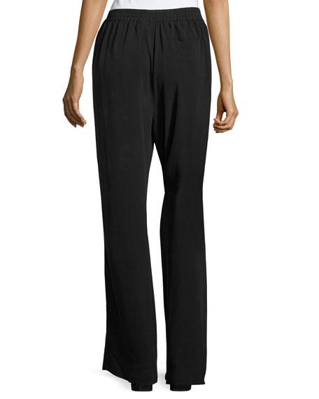 Go Quite A Contrast Silk Pants