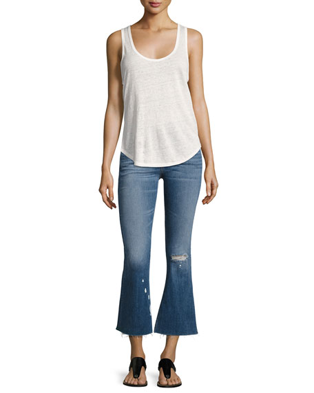 High-Waist Cropped Flare-Leg Jeans, Maybrook
